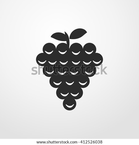 grapes icon. grapes sign. - stock vector