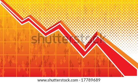 Graph background - stock vector