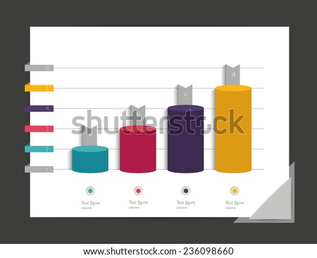 Graph, chart. Infographic elements.  - stock vector