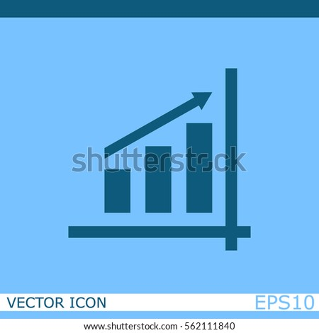 Graph chart vector icon