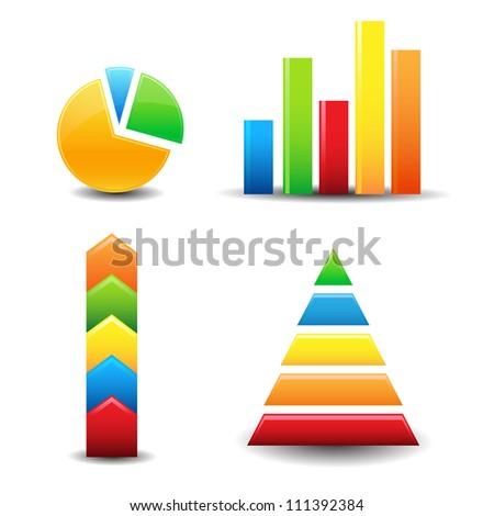 graph charts - stock vector
