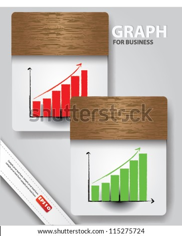 Graph for business,Vector - stock vector
