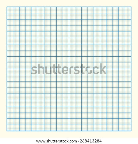 Blue Plotting Graph Grid Paper Background Stock Vector