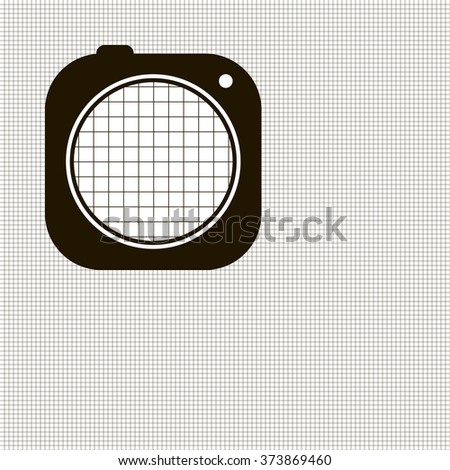 Graph grid seamless squared cells paper background with increased part of the grid cells. Paper sheet pattern. EPS10 vector - stock vector