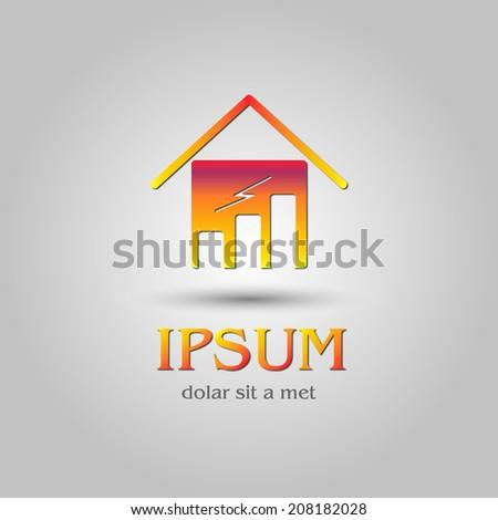 graph home logo concept - stock vector