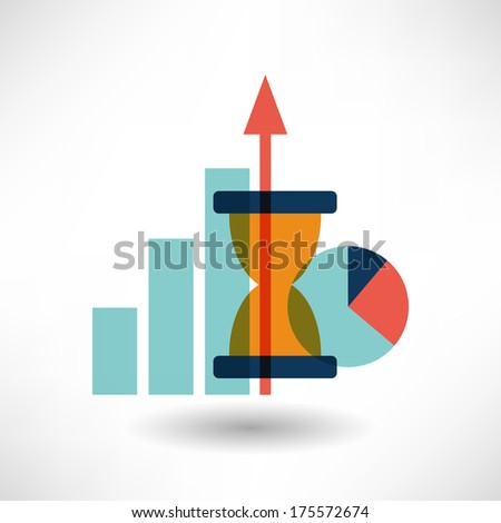 Graph icon - stock vector
