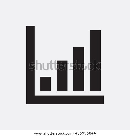 Graph icon illustration isolated vector sign symbol