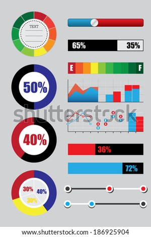 graph icons illustration vector set