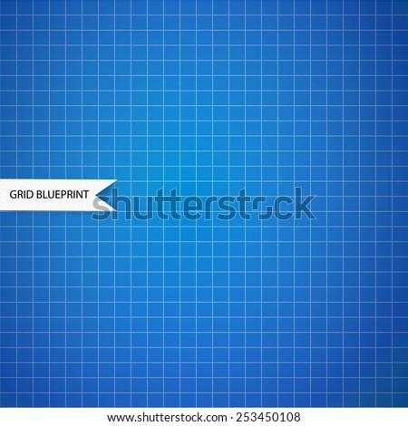 Graph, millimeter paper blueprint  - stock vector