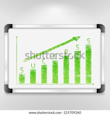 Graph of success, vector eps10 illustration - stock vector
