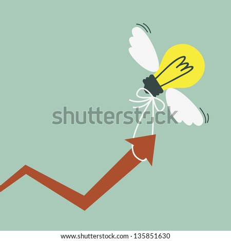 Graph of successful growth of business - stock vector