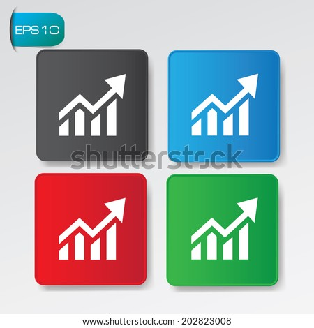 Graph on buttons,vector - stock vector