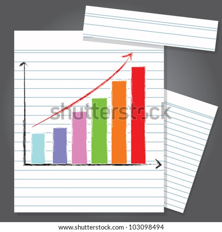 Graph on paper,Vector