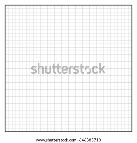 Sheet Polar Graph Paper Shows Wear Stock Vector