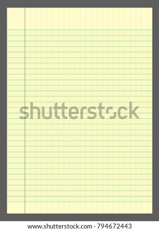 graph paper lined graph paper a 4 stock vector 2018 794672443