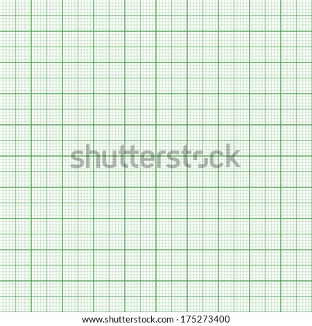 Graph paper. Seamless vector background (green). - stock vector
