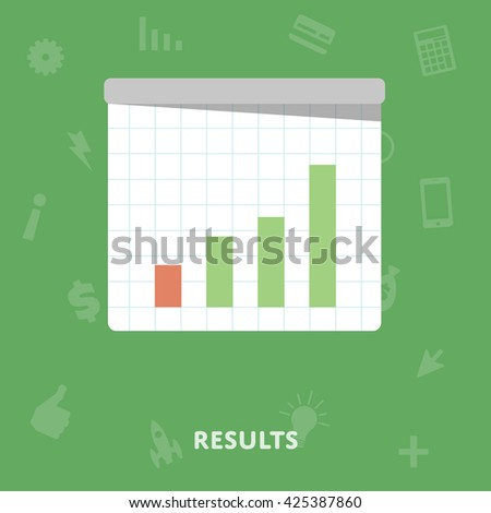 Graph results flat abstract isolated vector illustration