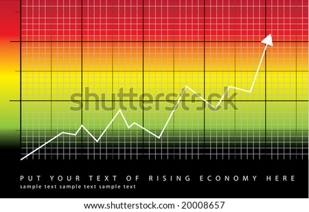 graph showing rise in profits or earnings / vector illustration - stock vector