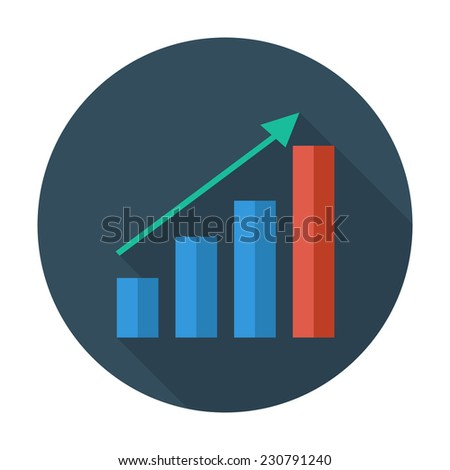 Graph. Single flat color icon. Vector illustration.