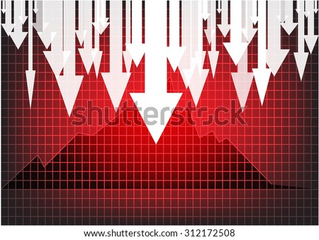graph stock crash recession vector. Vectoe eps 10 - stock vector