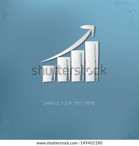 Graph up symbol,vector - stock vector