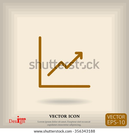 graph vector icon - stock vector