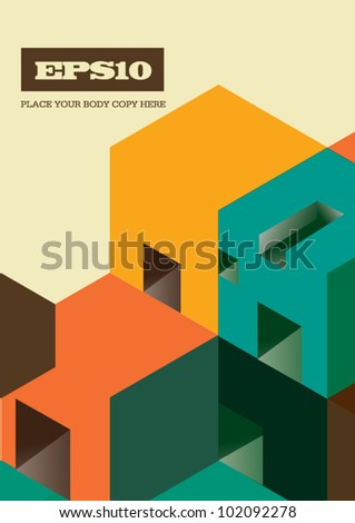 Graphic Background Design Visual Vector - stock vector