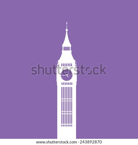 Graphic big ben , clock tower - stock vector