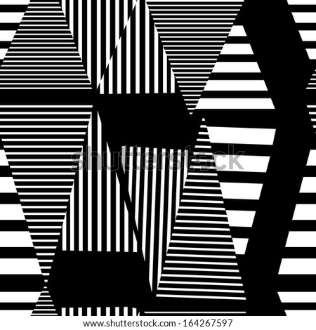 graphic black and white geometric pattern