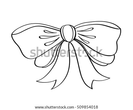 Bow Hand Drawn Stock Illustration 109196249 Shutterstock