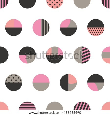 Graphic circles seamless pattern. Vector illustration. - stock vector