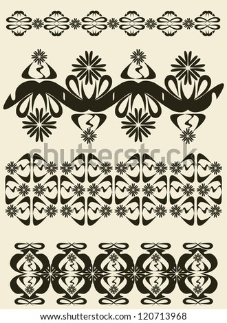 graphic decorative ornaments - stock vector