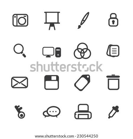 Graphic Design Icon - stock vector