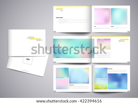 Graphic design studio portfolio template white stock vector graphic design studio portfolio template white creative pages and cover design with your text pronofoot35fo Choice Image