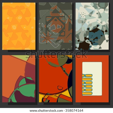 Graphic Design Templates for Logo, Labels and Badges. Abstract Line Patterns Backgrounds. Collection for Banners, Flyers, Placards and Posters.