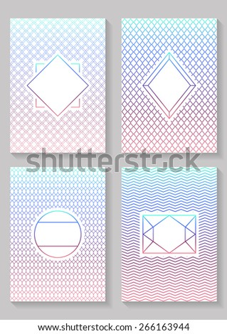 Graphic Design Templates.  Graphic Design Templates for Logo, Labels and Badges. Abstract Line Patterns Backgrounds. - stock vector