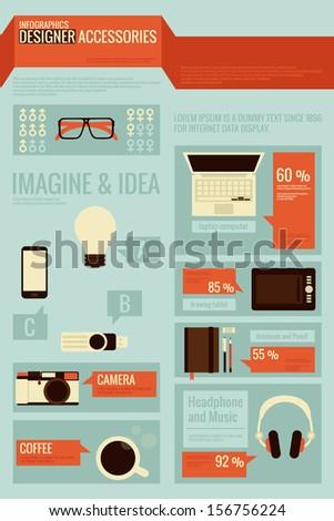 graphic designer infographics - stock vector