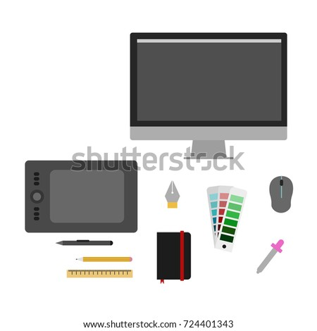 Graphic Designer Tools Vector