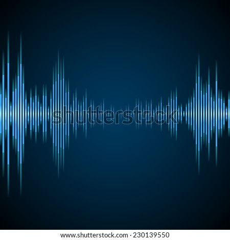 Graphic Equalizer Display - stock vector