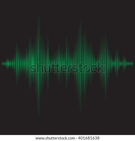 graphic equalizer - sound waves vector abstract - background for different joyful events. Vector illustration eps 10 can be used, music layout page, cover magazine template, green on the black