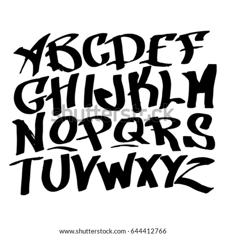 Graphic Font For Your Design Hand Drawn Calligraphy Lettering Alphabet Stylish Letters Vector