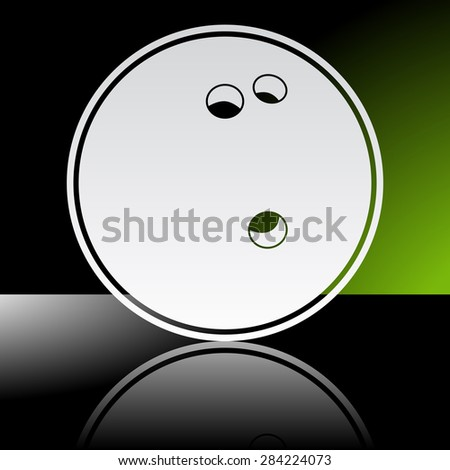 Graphic icon of bowling ball with reflection