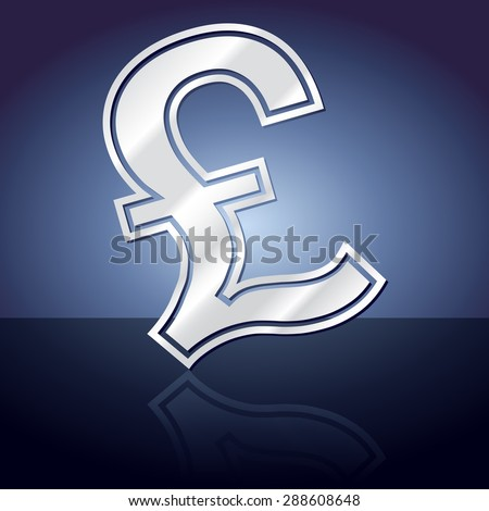 Graphic icon of pound sign symbol with reflection. - stock vector