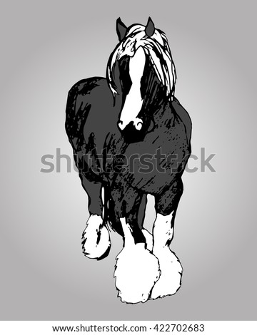 Graphic image of a large horse.