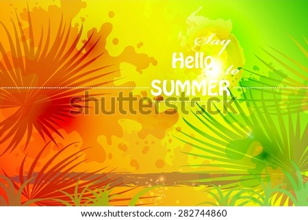 Graphic message for your summer design - stock vector