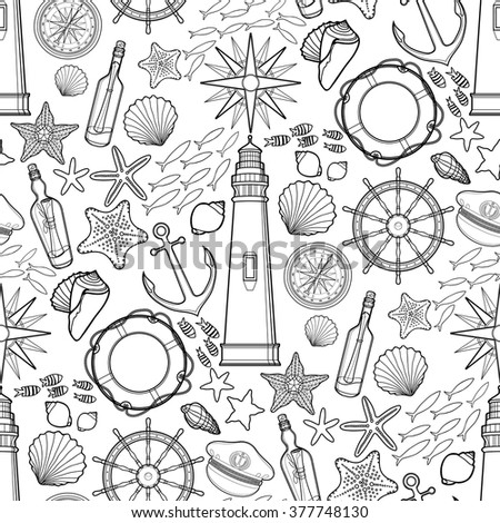 Stock images similar to id 101582731 atlantic mackerel for Adult coloring pages nautical