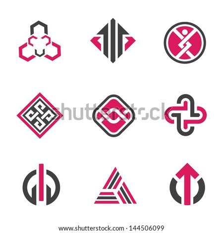Graphic Symbols Logo Technology Concept Icon Stock Vector 144506099