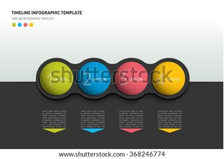 Graphic template, workflow, option banner, chart, scheme, diagram. Horizontal line. Vector infographic illustration. - stock vector