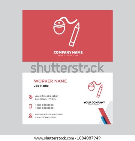Graphic Tool Business Card Design Template Stock Vector 1084087949