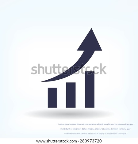 graphic with arrow icon - stock vector
